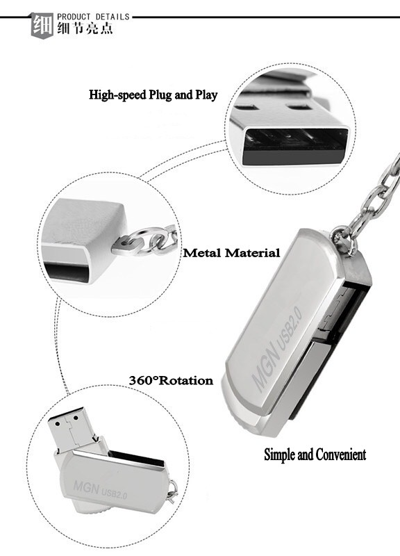 Wholesale Mobile Metal Mini 2.0 USB disk with good price