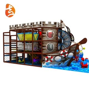 Commercial grade kids indoor pirate ship indoor playground for sale