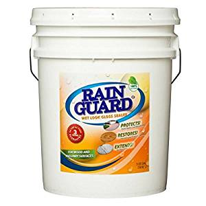 Rainguard 5 Gal Homeowner Wet Look High Gloss Masonry & Wood Acrylic Sealer Protects Decks, Porches, Patio's, Walkway's, Pavers. For use on all all types of Concrete, Brick, Masonry, Wood and Stone Surfaces.