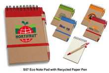 Eco Note Pad with Recycled Paper Pen