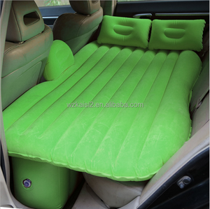 Green PVC Waterproof Self-Drive Air Bed Car Inflatable mattress with Air Pump