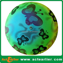 9inch promotional inflatable plastic pvc toy rainbow ball