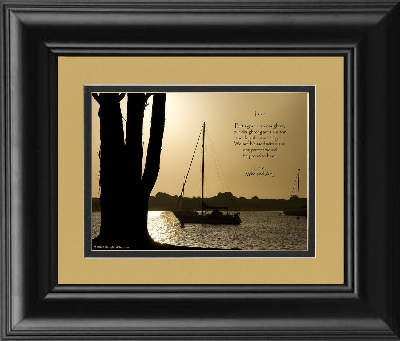 Framed Personalized Son In Law Gift With Poem