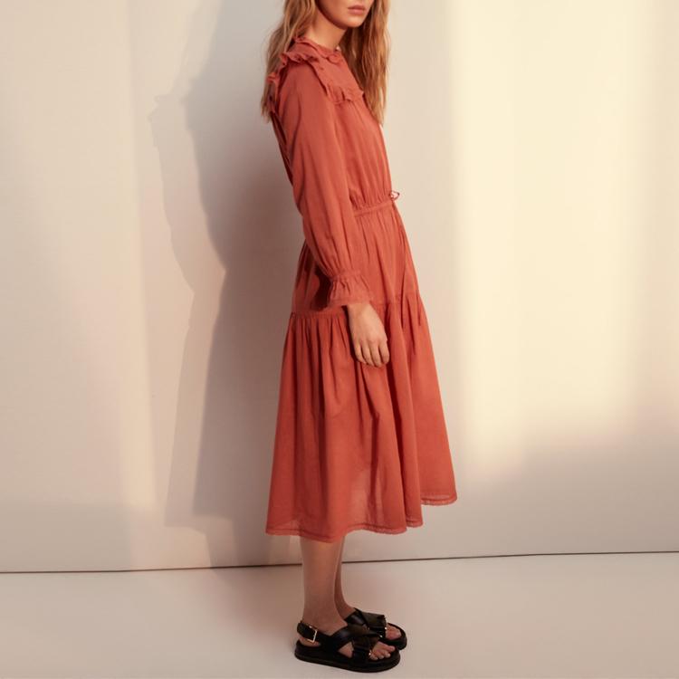164c9b1a54 De alta calidad de algodón de verano ropa de las mujeres con volantes Boho  Maxi vestido