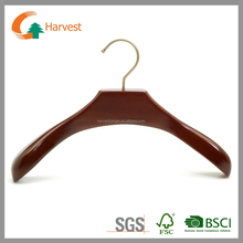 Hot sale high quality wooden coat hanger walnut color