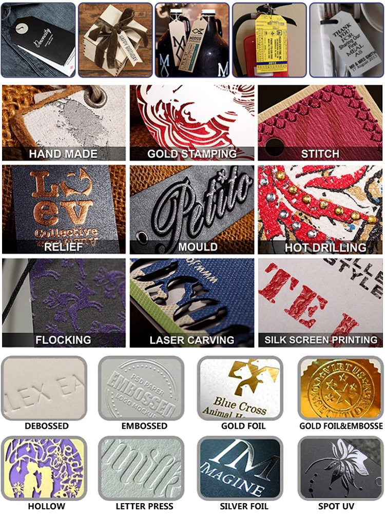 Custom Clothing Brand Logo Hang Tag and Labels for Garment Accessories