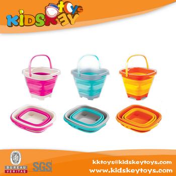 Kids Beach Buckets Folding Bucket Silicone Small