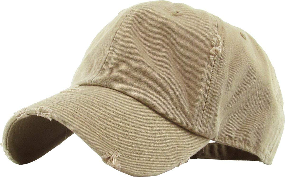 d3709bb6e9c95e KBETHOS Vintage Washed Distressed Cotton Dad Hat Baseball Cap Adjustable  Polo Trucker Unisex Style Headwear
