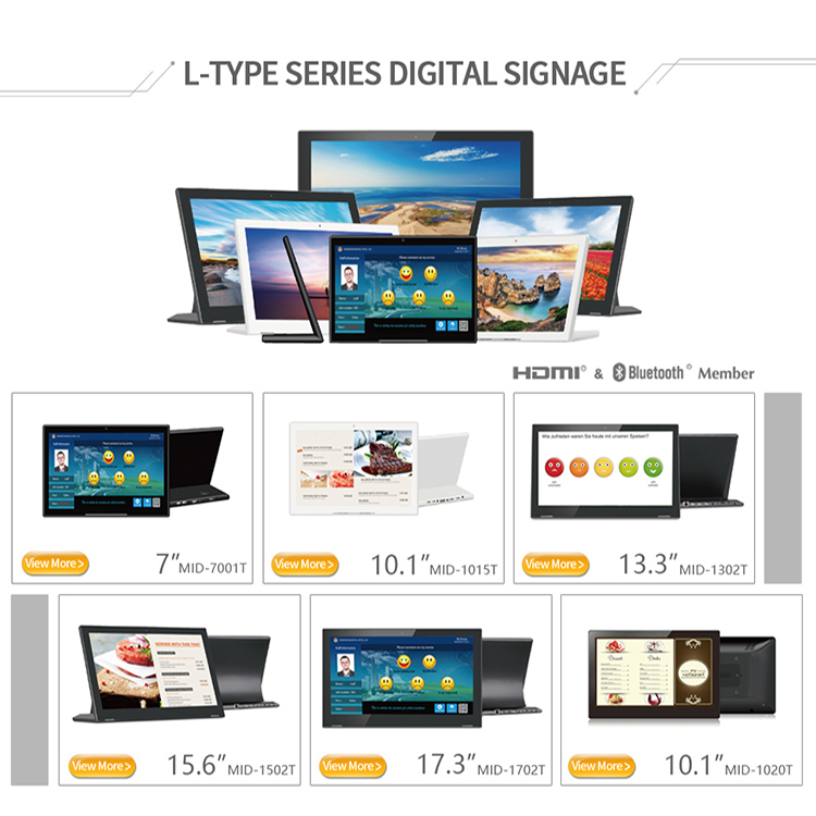 17.3 inch L Style Tablet PC 1920*1080 IPS Android 6.0 RK3368 10 Points Capacitive Touch Screen