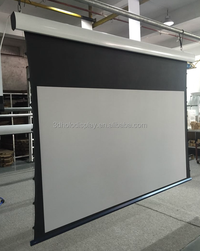 2.35:1 Motorized Projector Screen Tab Tensioned Screen,Cinema Screen Price
