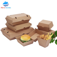 wholesale different sizes disposable custom burger and fries box