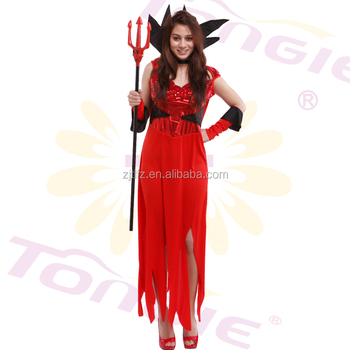 Sexy Red Halloween Adult Demon Cosplay Devil Costume For Women 2f0e945a8
