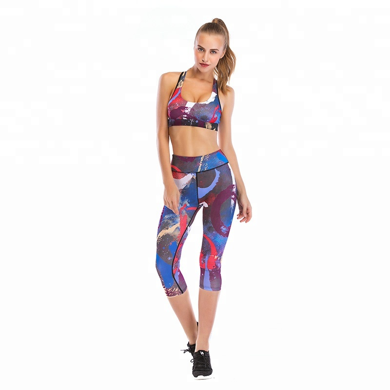 OEM High Quality Gym Outfit Sports Workout Wear Ladies Hot Sexy Stretch  Fitness Bra Leggings Set 3c05a8694c0c