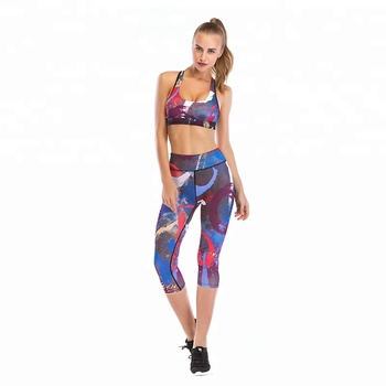 1880883d1f1b5 OEM High Quality Gym Outfit Sports Workout Wear Ladies Hot Sexy Stretch Fitness  Bra Leggings Set