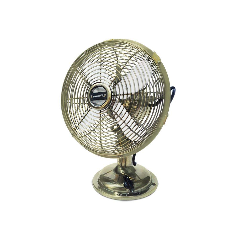 FH Electric Fan Small Table Fan Household Retro Fan Desktop Mechanical Small Fan Nostalgic Antique 12 Inches Electric Fan