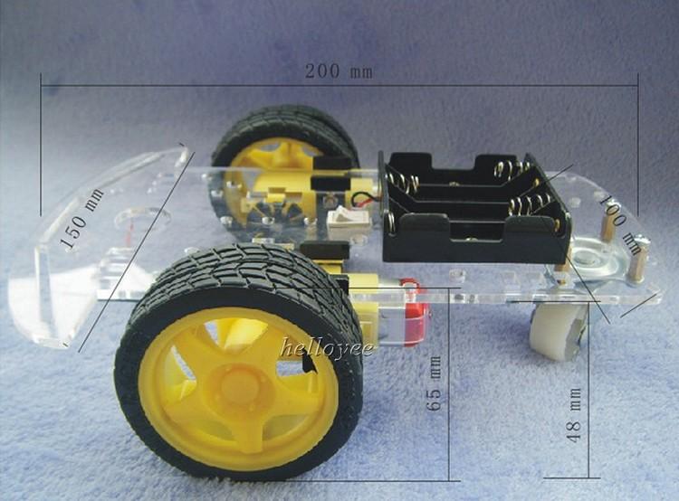 Smart robot ch ssis de voiture kit avec moteur et roues aa