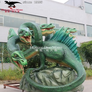 Amusement Park Equipment High Quality 3D Animatronic Western Dragon