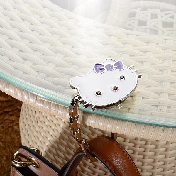 e35276827c9e Professional Promotional Hello Kitty Folding Handbag Hanger Holder ...