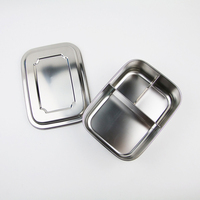 OEM leakproof metal stainless steel tiffin food lunch box insulated bento lunchbox without lock