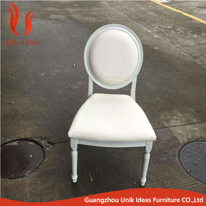 Elegant stacking White aluminum louis ghost sun dining chair