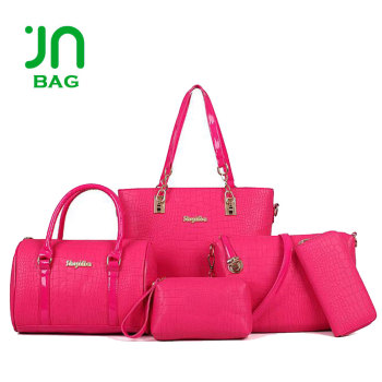 cb50c0f93787 JIANUO 2018 handbags women fashion bags ladies handbag sets 6PCS in 1 Designer  Handbag OEM bag