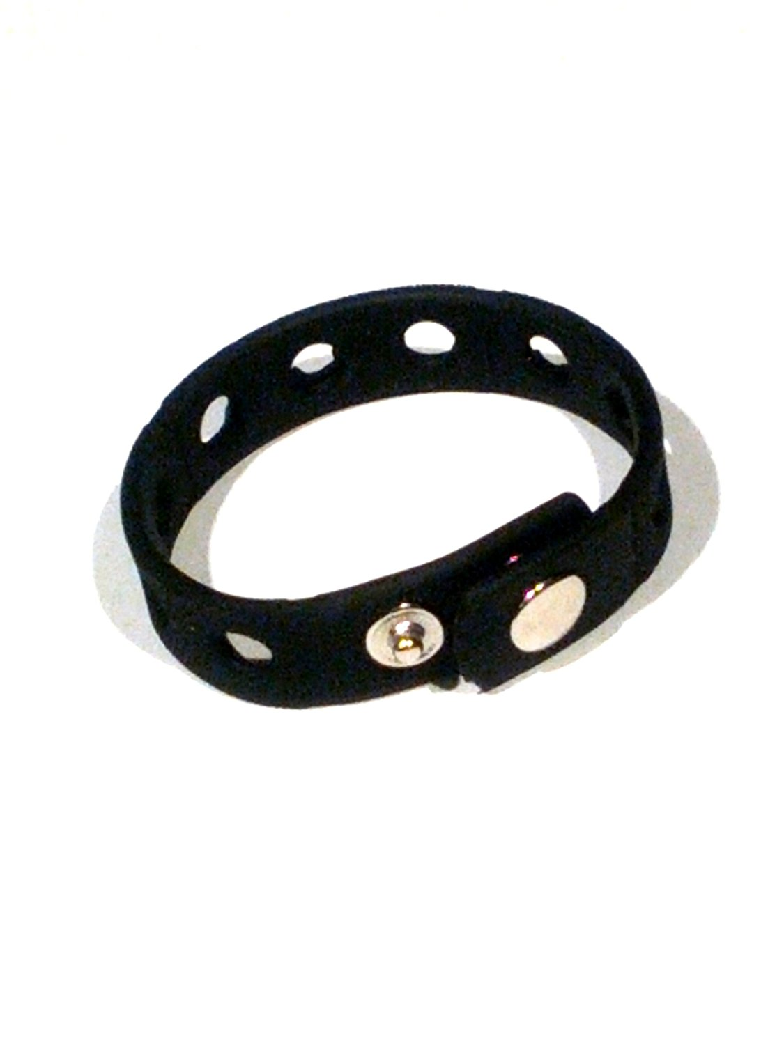 "7"" Black Rubber Bracelet Wristband for Shoe Jibbitz Crocs Charms"