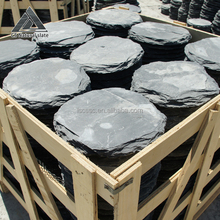 Top Sale Friendly Different Shape Decorative Black Natural Stepping Stones