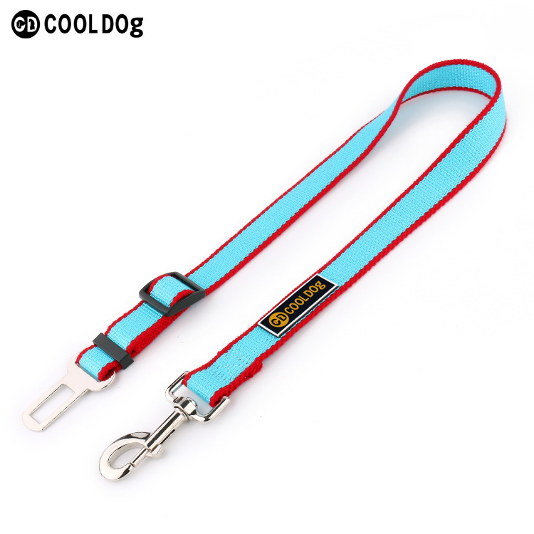 Adjustable Pet Dog Cat Safety Leads Car Vehicle Seat Belt Harness Seatbelt, Made from Nylon Fabric