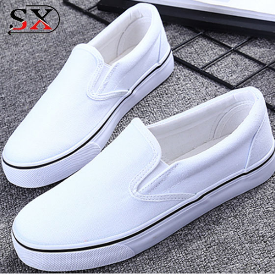 2018 most fashion Popular Yiwu white canvas shoes wholesale very cheap canvas shoes
