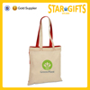 wholesale uncomplicated eco reusable colored handle cotton shopping bag