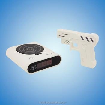 bedroom alarm clock. Alarm Clock Gun Target Shooting AM FM Radio Home Bedroom Wall Projection Am fm