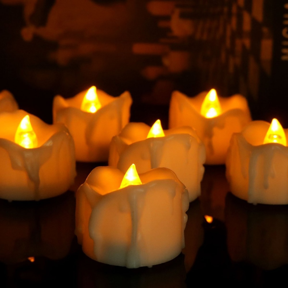 Hot selling LED Tea Light Electric Fake Candle in yellow light