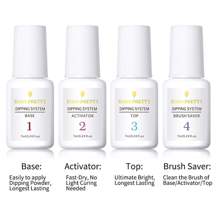 BORN PRETTY Nail Art 199 Colors Optional Dipping System Powder Nail Art Decoration Dip Nail Powder