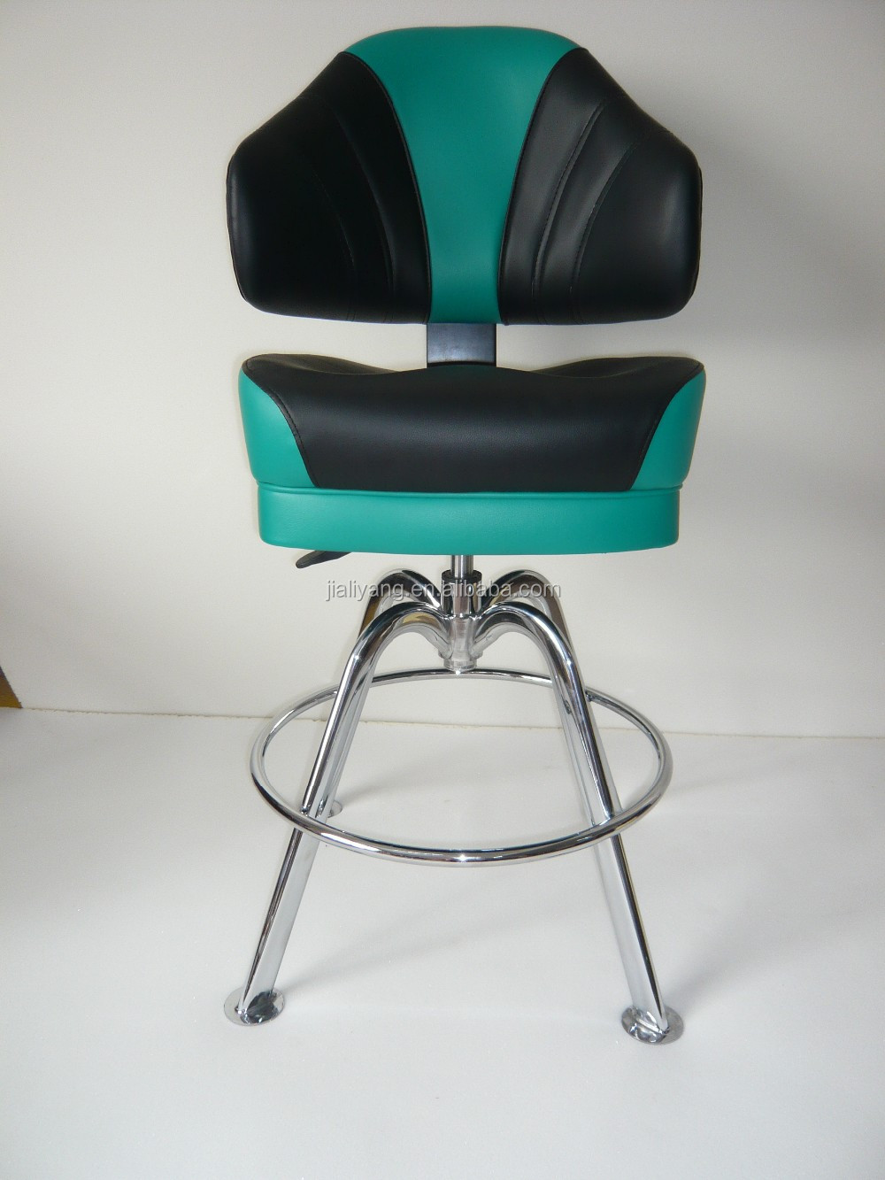 Hot Luxury Black Leather Casino Bar Chair Used