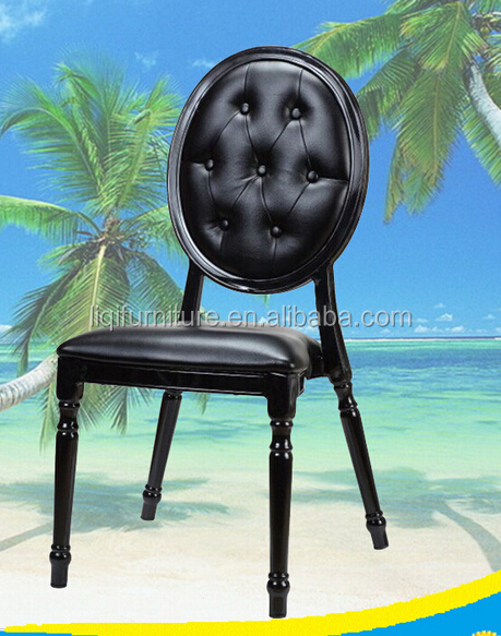 Black oval back louis banquet chair LQ-B999B