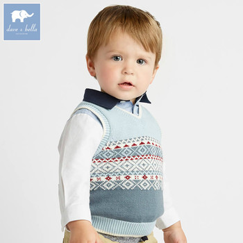 da7428a9d58b Dba7819 Dave Bella Autumn Baby Sleeveless Knit Vest Boys Pullover V ...