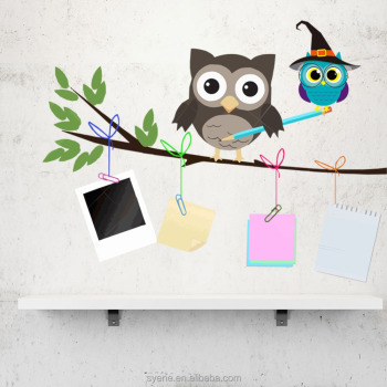 Syene New 3d Cartoon Owls Tree Branch Photo Frame Memory Family Tree Wall  Decal Baby Room