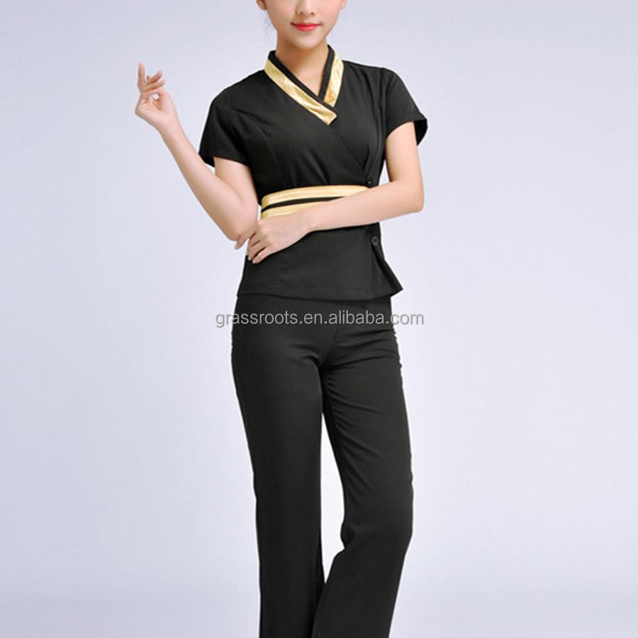 Guangzhou fashion design salon women manufacture spa for Uniform thai spa