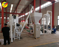 HKJ-250 model feed pellet line, chicken feed making machine,poultry feed making machine