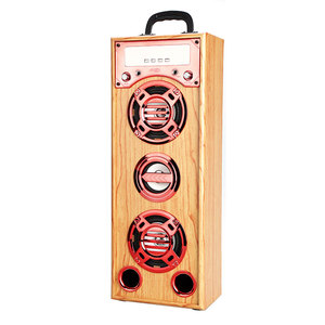 2.1inch super bass Wooden karaoke powered blutooth loudspeaker portable dvd dj sound box bass speaker