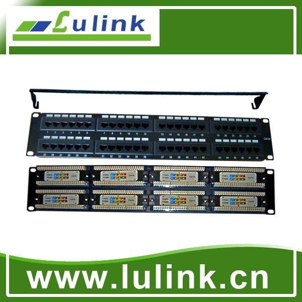 Cat5e UTP 48 Ports 110-IDC PC Board Patch Panel/Cheap Wholesale Utp Rj45 48 24 Port Cat 6 Patch Panel