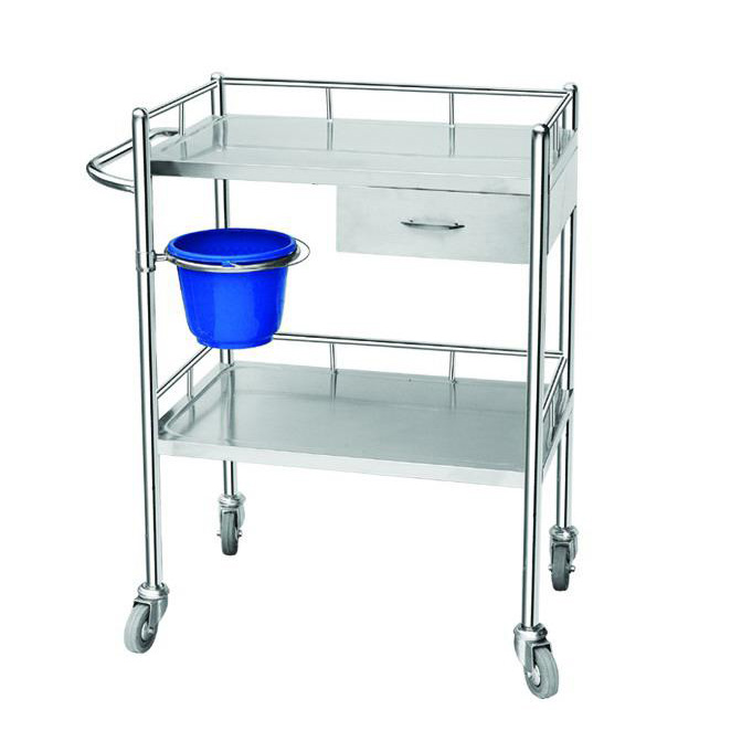 Hospital Medical Dressing Trolley/Instrument Trolley with drawer WN120 Price