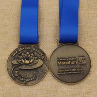 Metal craft 3D lotus logo marathon sports medals running medals
