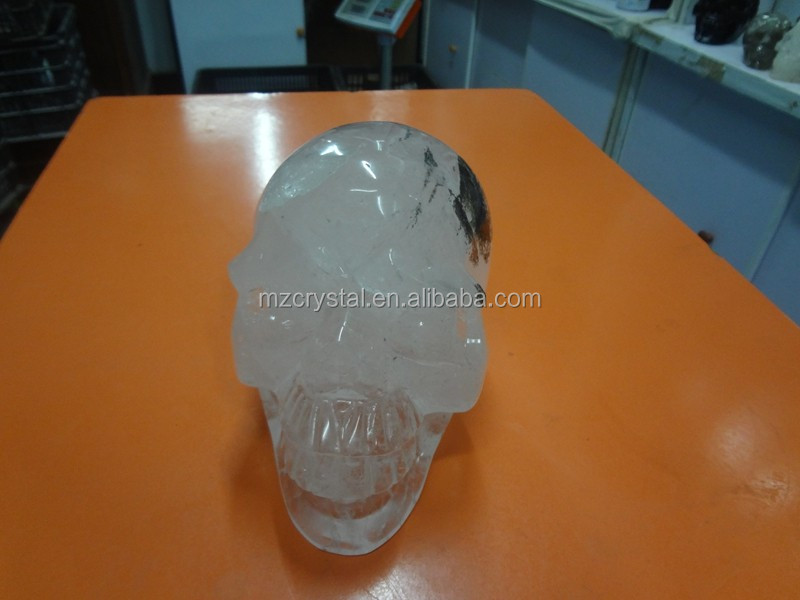 Wholesale decoration nature human white Crystal skull