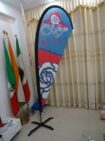 High quality promotion indoor beach flag pole for advertisement
