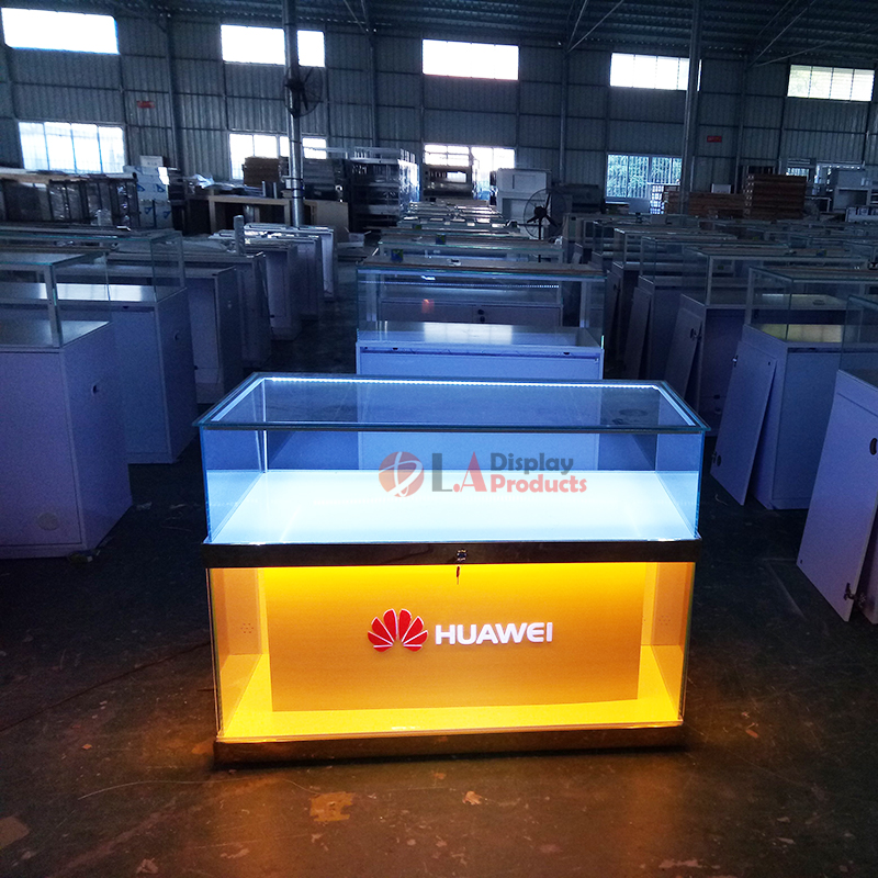 China supplier mobile phone shop interior design glass counter for <strong>display</strong> mobile