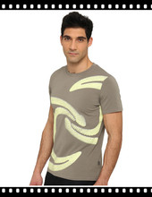 fashion printed top tee t-shirts 100% pima cotton for men
