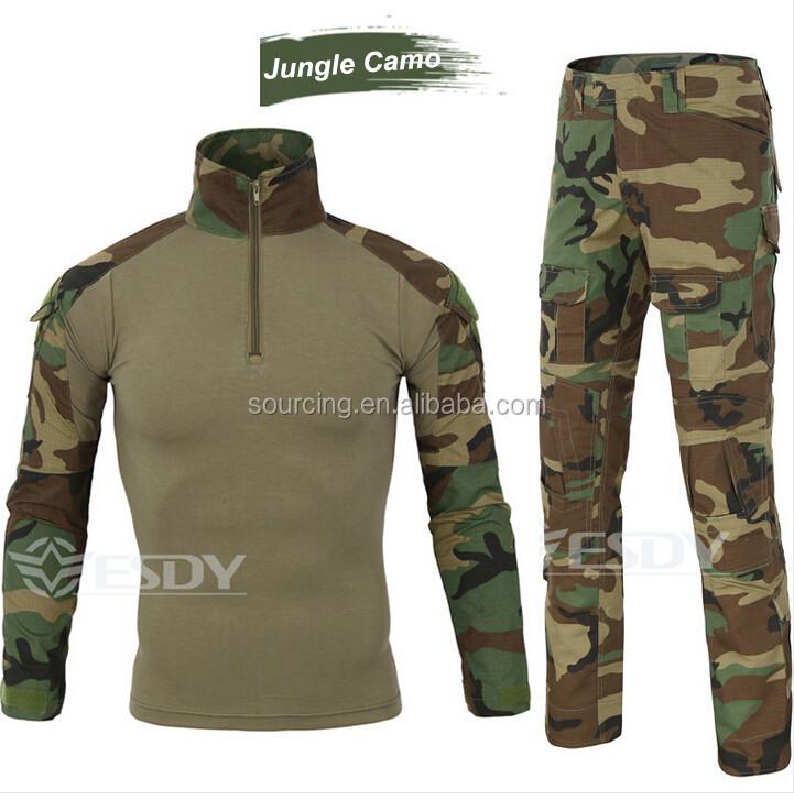 5 色迷彩アウトドアスポーツ防水ハイキング狩猟太陽保護戦術的なシャツ