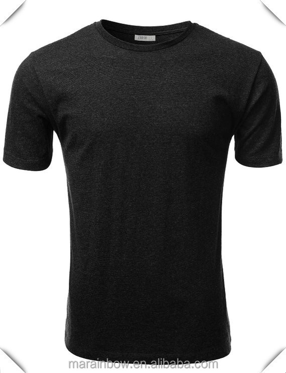 Cheap Wholesale Mens Tri-Blend 50% Polyester 25% Cotton 25% Rayon Black Plain O Neck Short Sleeve T Shirt