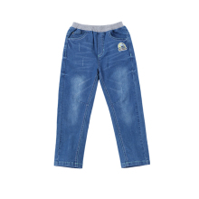 wholesale child clothes cotton denim pants elastic boys jeans trousers for kids